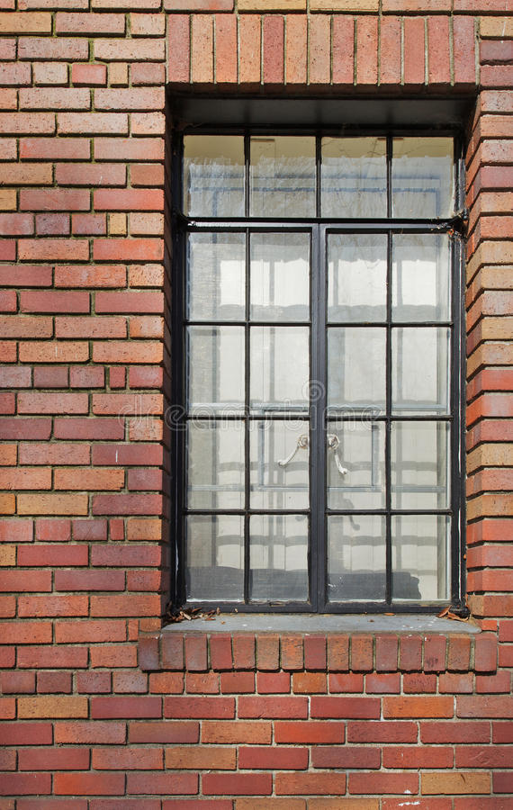 Download Brick Wall Black Rimmed Window Stock Image - Image: 18356161