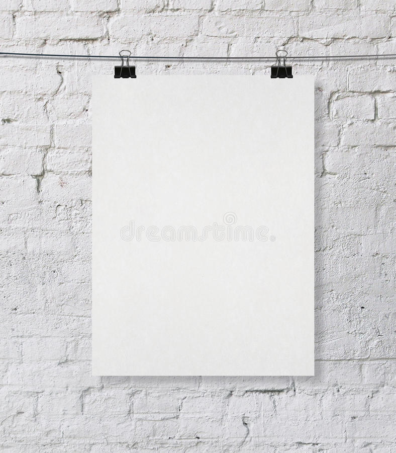 Blank poster royalty free illustration