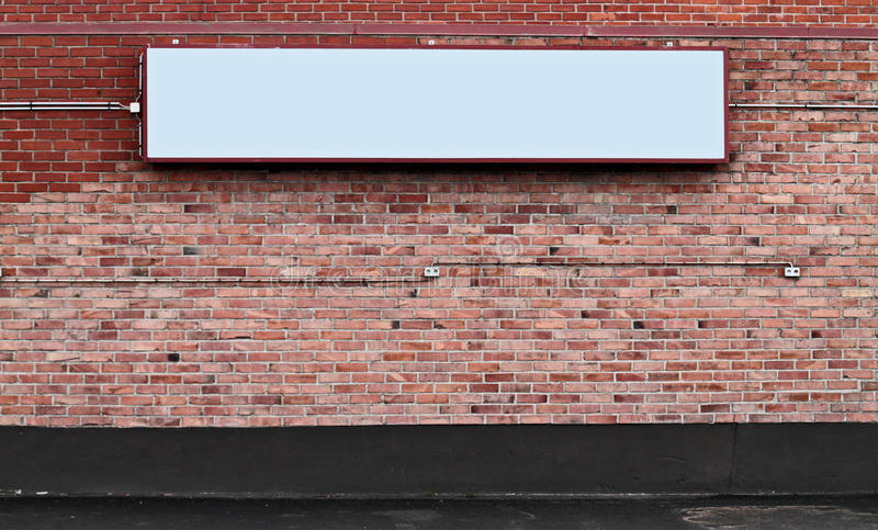 Download Brick wall with blank sign stock photo. Image of post - 20412702
