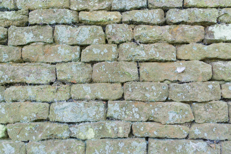 Brick wall craftsmanship. Brick wall craftsmanship, outside in a park, in England stock photography