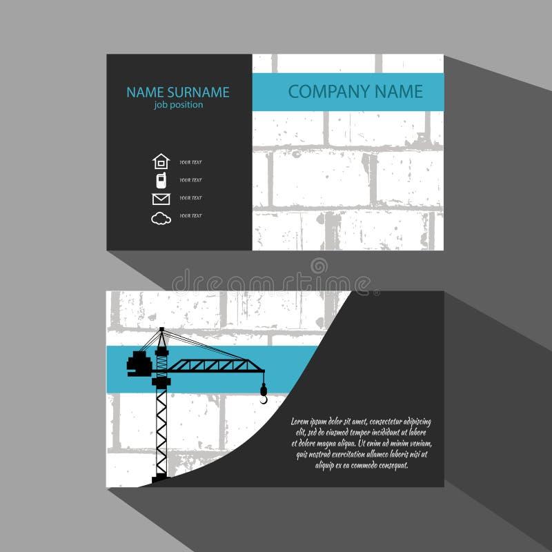 Brick wall and crane business card vector illustration eps 10 download brick wall and crane business card vector illustration eps 10 stock illustration illustration colourmoves