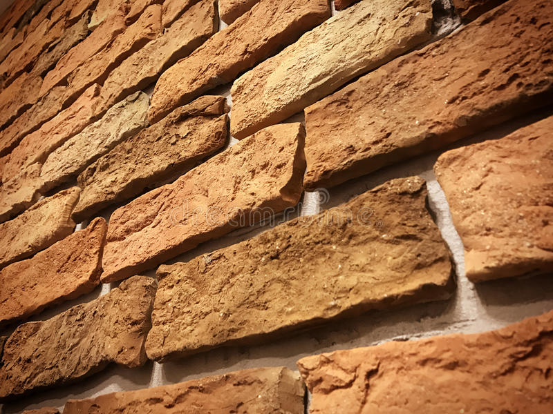 Brick wall. Detail Of Brick Wall red royalty free stock images