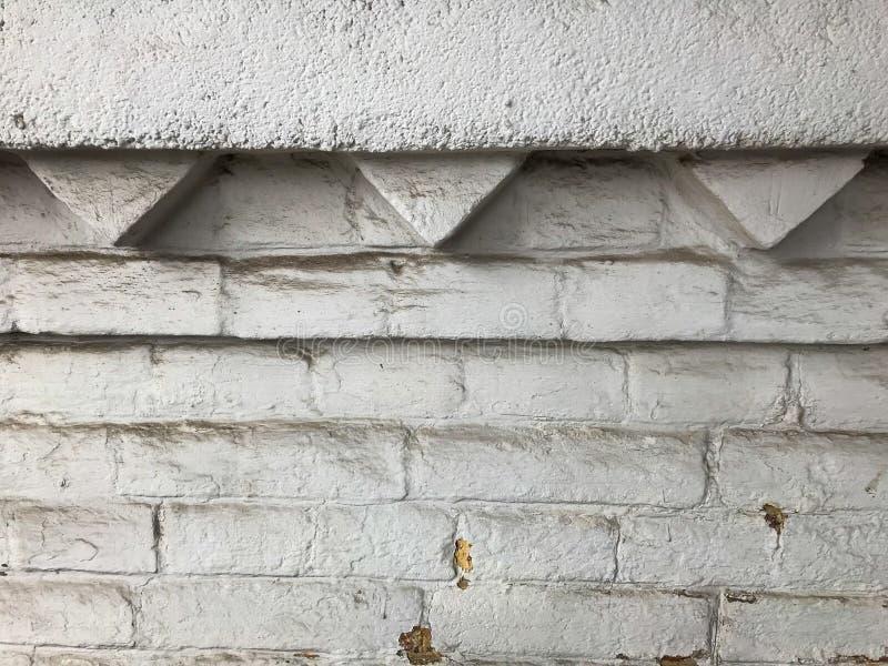 Brick wall is een beetje stoffig royalty-vrije stock fotografie