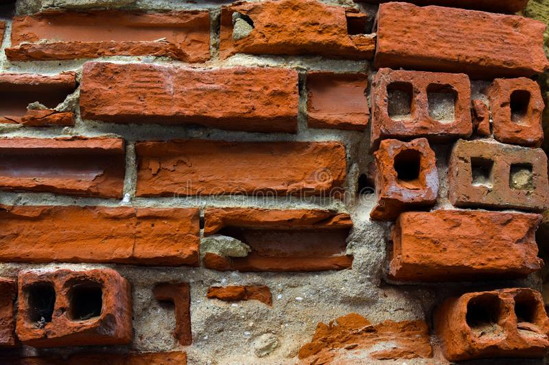 Brick wall. Fragment. Background. Wallpaper. Old. Fragment. Background colour photo texture abstract material stock photo