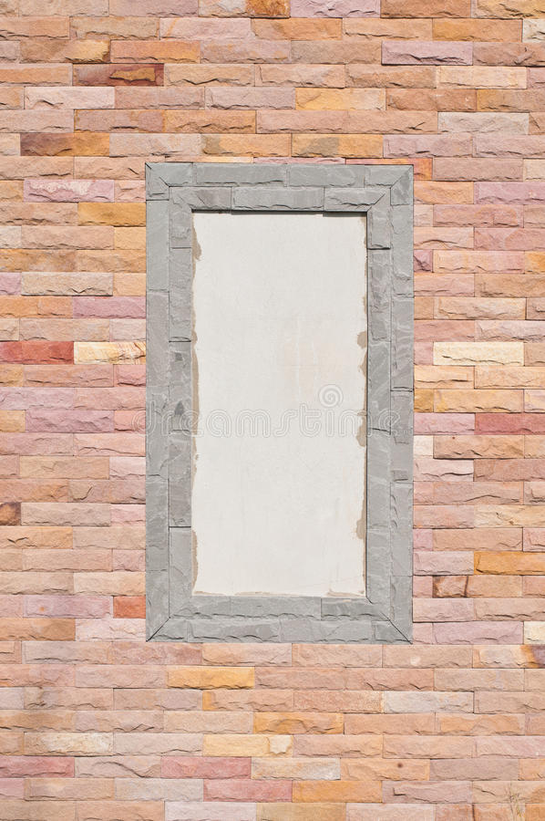 Download Brick Wall With Frame Royalty Free Stock Photography - Image: 24699287