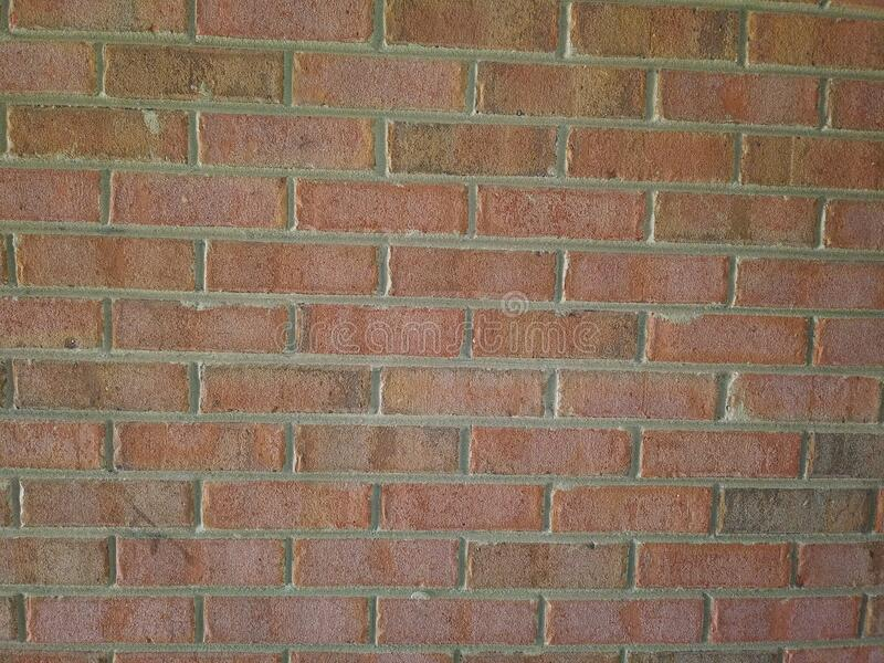 Brick wall front view solid stock photo