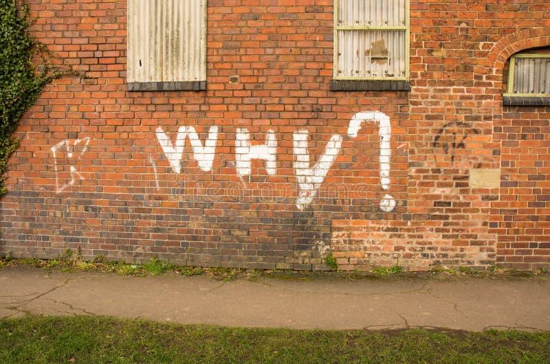 Brick wall graffiti royalty free stock images