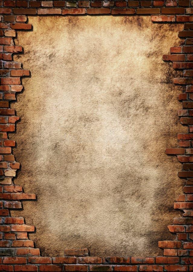 Brick wall grungy frame royalty free stock photos