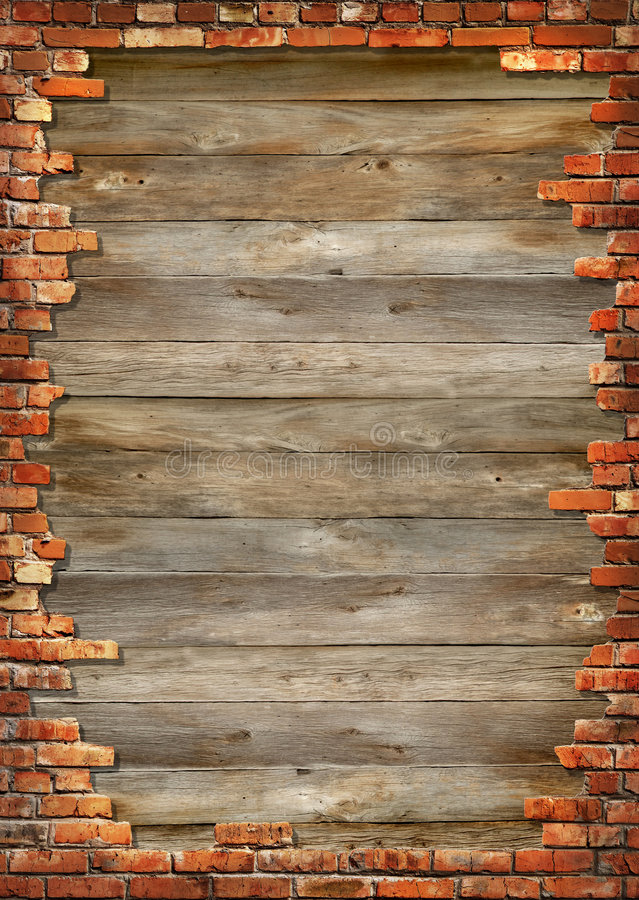 Brick Wall Grungy Frame Royalty Free Stock Photography