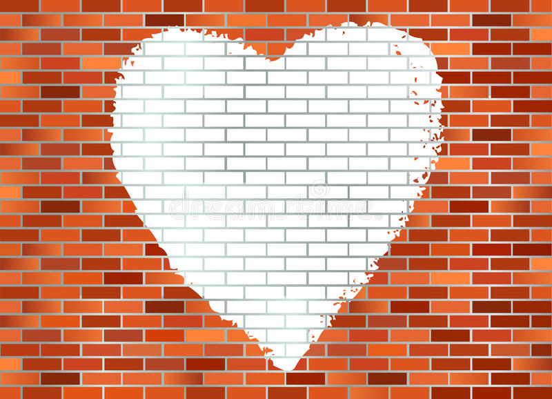 Brick Wall Hart Royalty Free Stock Image
