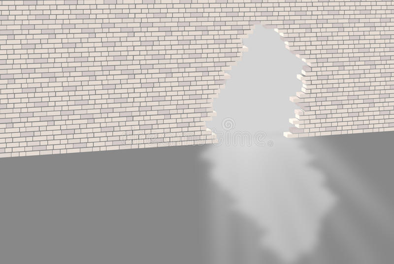 Download Brick wall with hole stock image. Image of metaphor, escape - 23293377