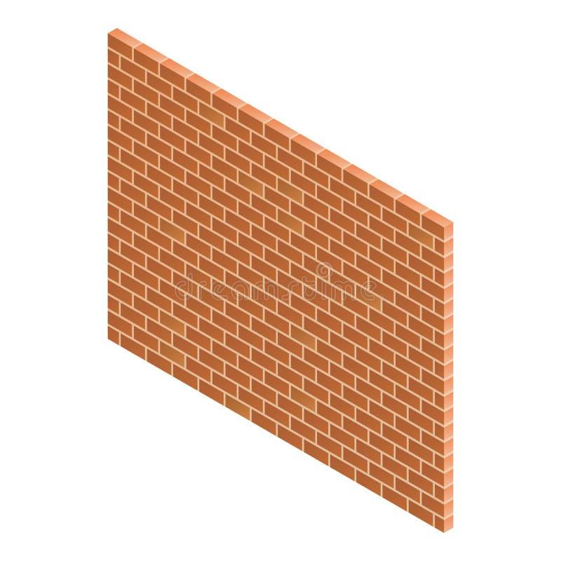 Brick wall icon, isometric style royalty free illustration
