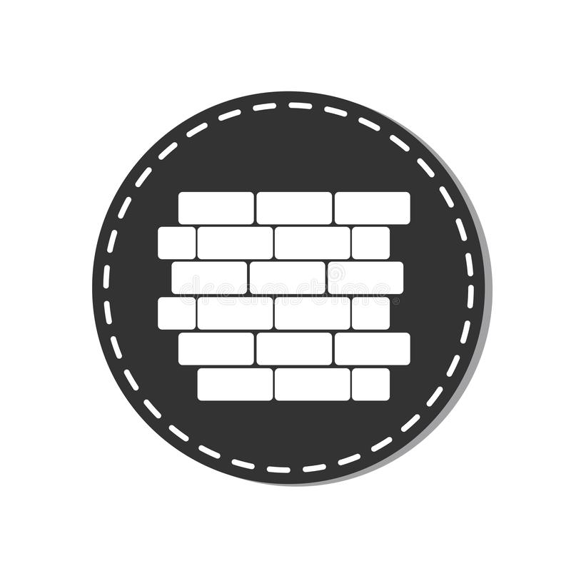 Brick Wall Icon - Vector Illustration - Isolated On White Background vector illustration