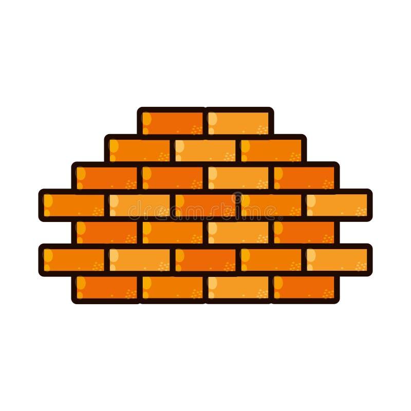 Brick wall isolated icon. Vector illustration design royalty free illustration