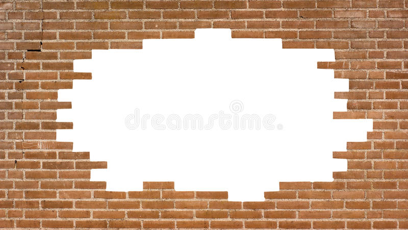 Download Brick Wall With A Large Hole Stock Photo - Image: 22135952