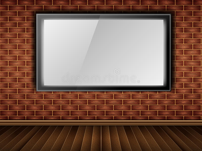 Brick, wall, lcd (window) royalty free stock photography