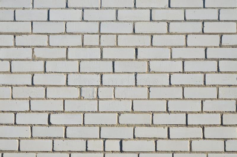 Brick wall made of white silicate brick royalty free stock photography