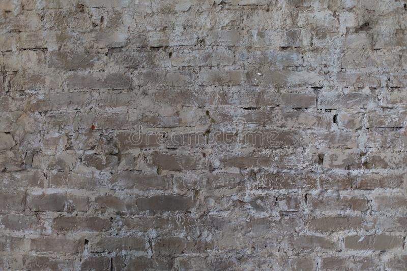 Brick wall, old texture of stone blocks. Background. stock images