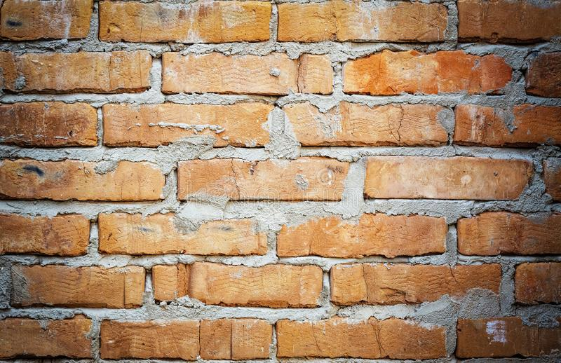 Brick wall, old wall, background, red brick, block, old, texture royalty free stock photo