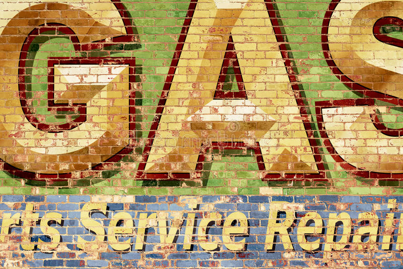 Brick Wall with Painted Letters stock illustration