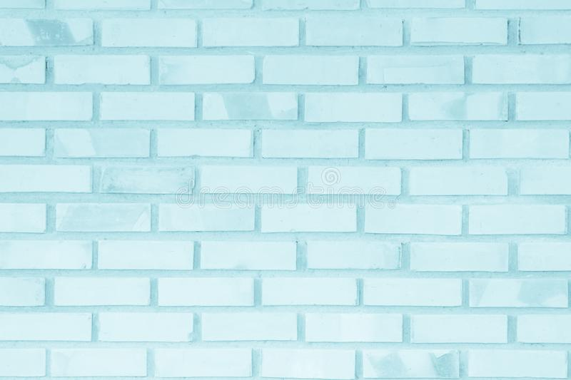 Brick wall painted with pale blue paint pastel calm tone texture stock photos