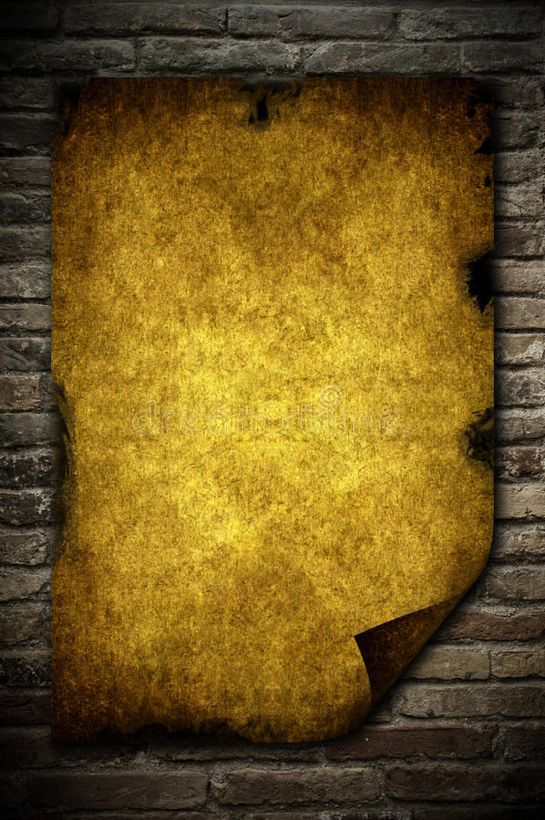 Download Brick wall and paper stock illustration. Image of edge - 15908296