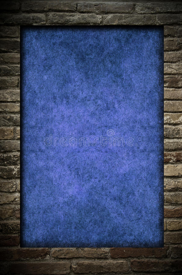 Download Brick wall and paper stock illustration. Image of retro - 15908343