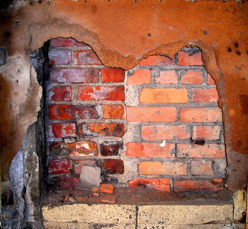 Brick Wall and Rust stock photography