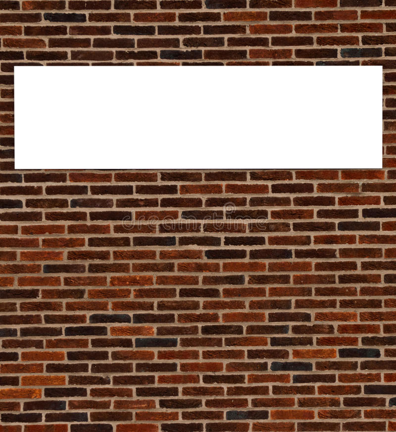 Download Brick wall sign stock photo. Image of outdoor, background - 28907528