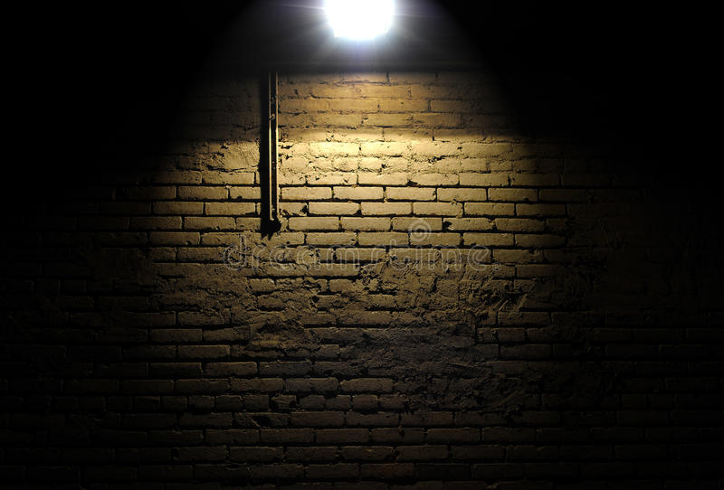 Download Brick Wall With Spotlight Stock Photo Image Of Dark
