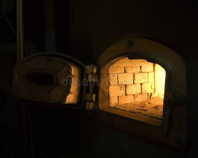 Brick Wall Stove Royalty Free Stock Images