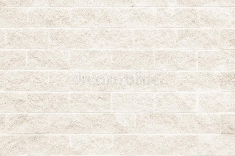 Brick wall texture background or wallpaper abstract paint to flo. Cream and white brick wall texture background or wallpaper abstract paint to flooring and stock image