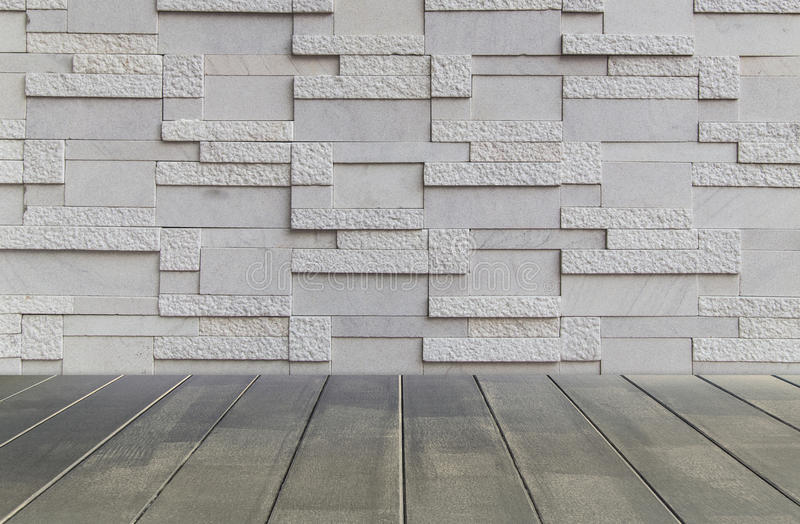 Brick wall texture background and wood floor royalty free stock photography