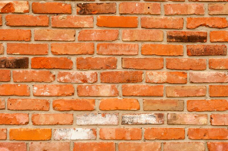 Old brick wall textured background stock photography
