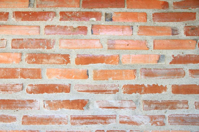 Brick wall texture. Orange brick wall of house for background or texture royalty free stock photography