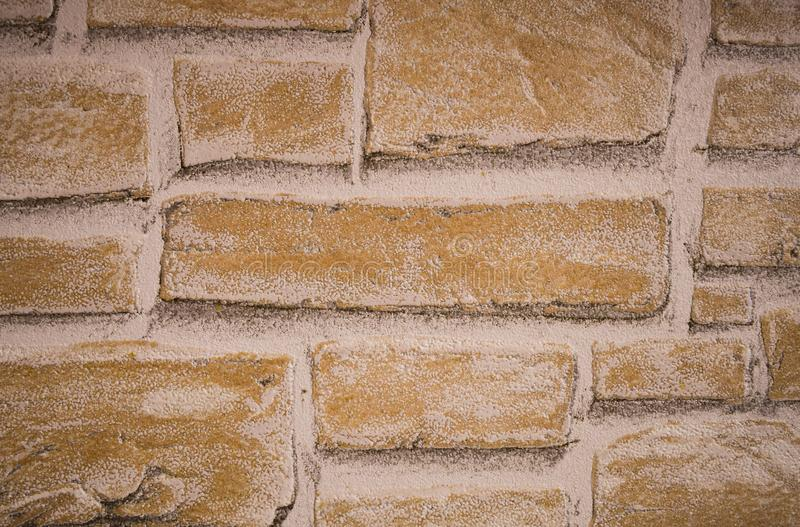 White brown and black brick wall texture wallpaper. Abstract background . stock photography