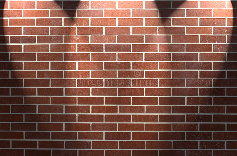 Download Brick Wall With Three Spotlights Stock Photo - Image: 8089108