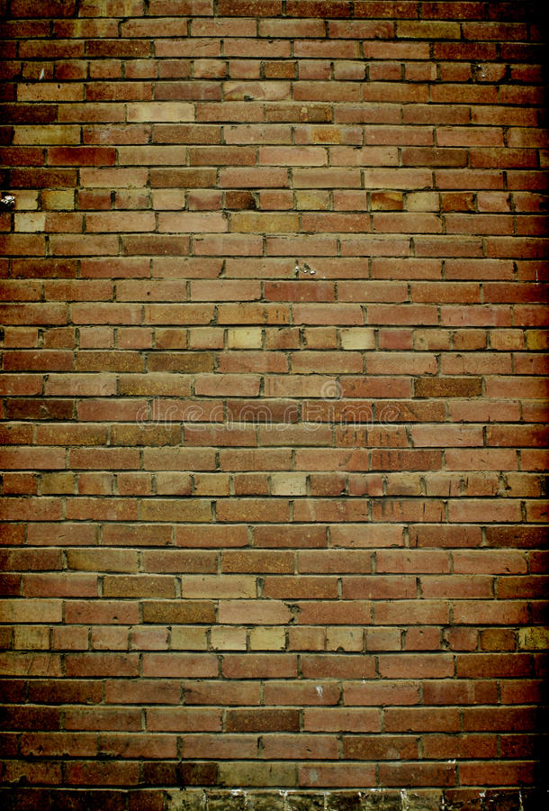 Brick Wall Vignette royalty free stock photo