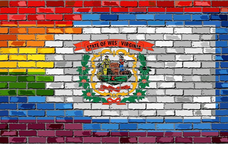 Brick Wall Brazil And Gay Flags