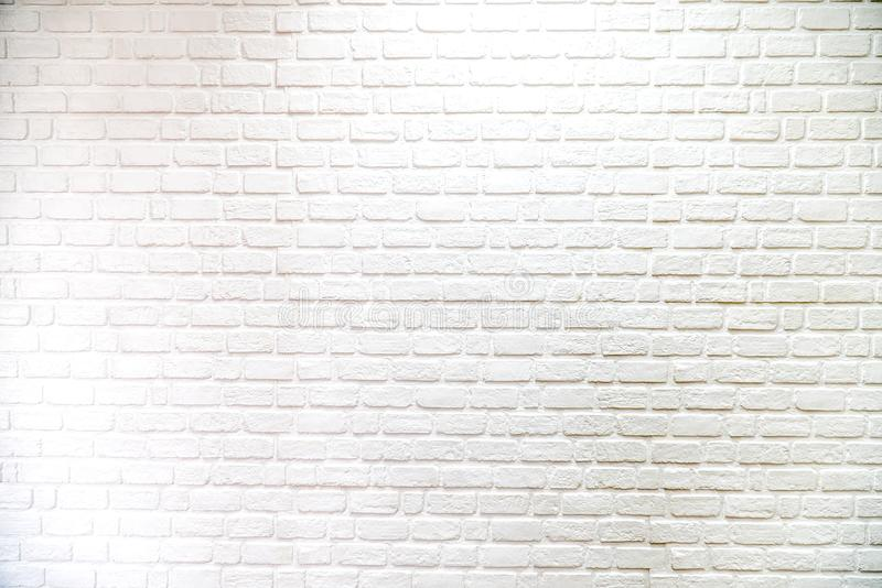 Brick wall white background and texture,pattern. stock photo