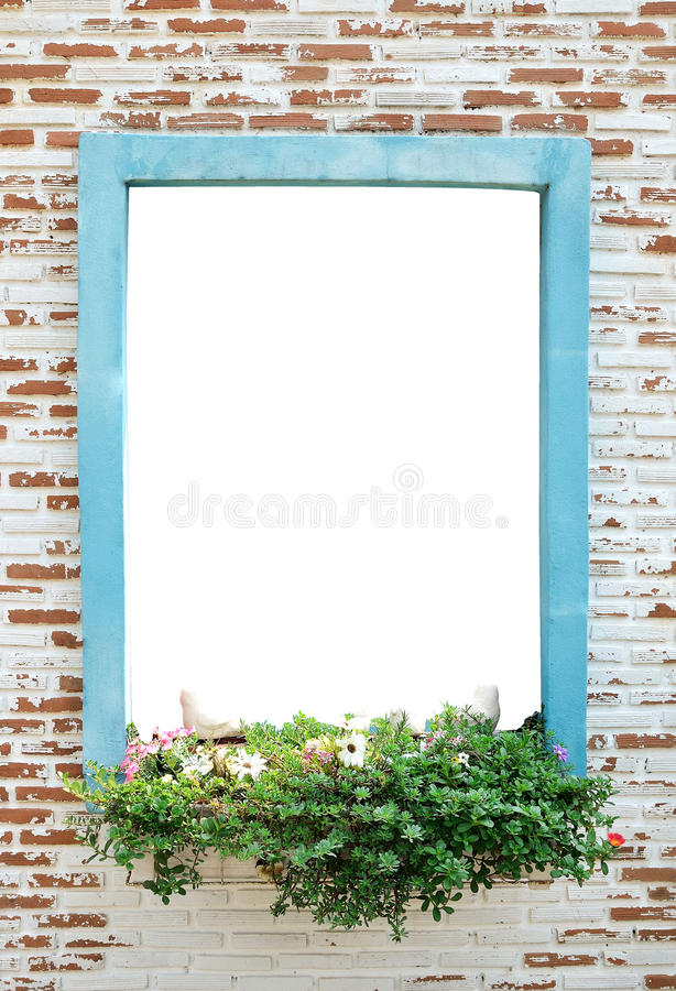 Brick Wall Or Window Outside The White Background Stock Image ...