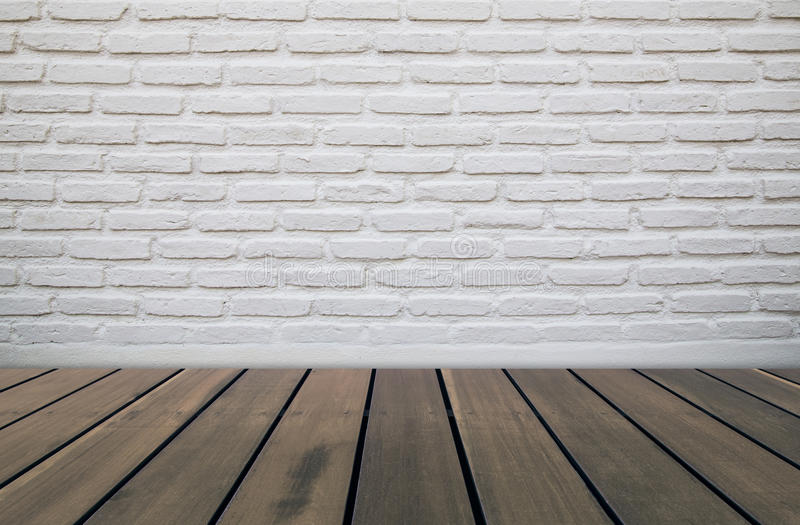 Brick wall and wood floor stock images