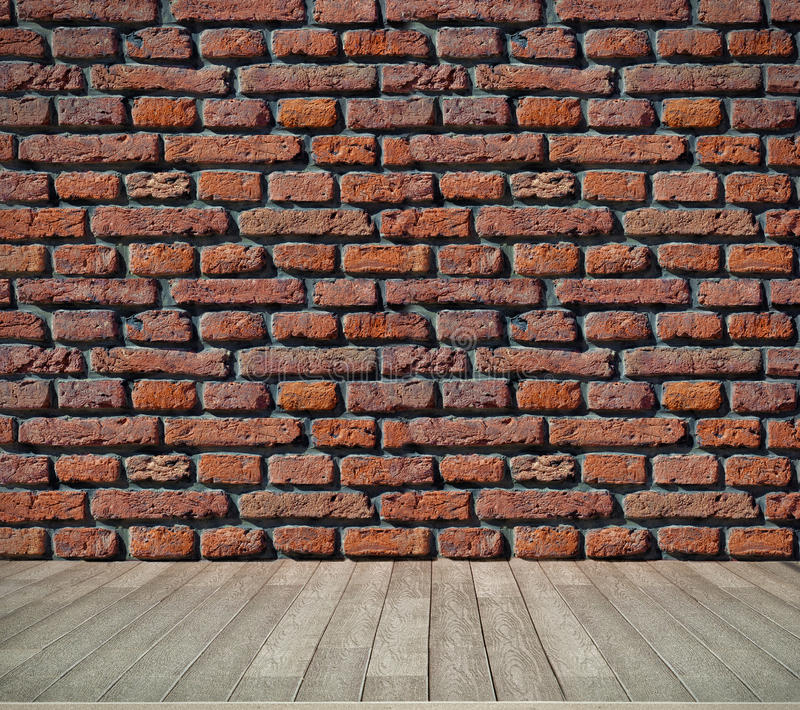 Download Brick  Wall And Wooden Floor Stock Photo - Image: 26241776