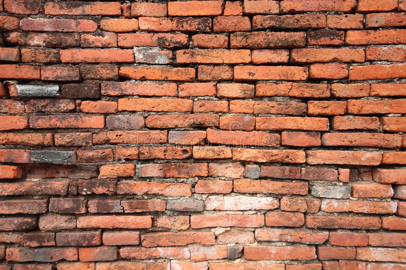 Brick walls of the old. Detail of the brick walls of the old royalty free stock images