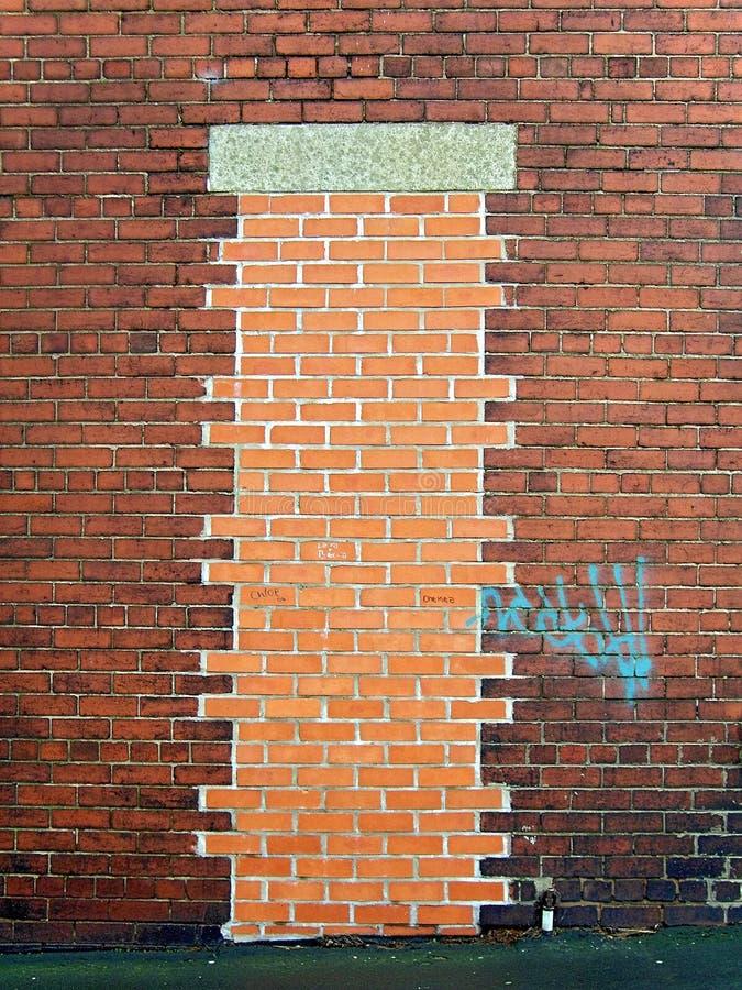 Bricked sulla porta fotografia stock libera da diritti