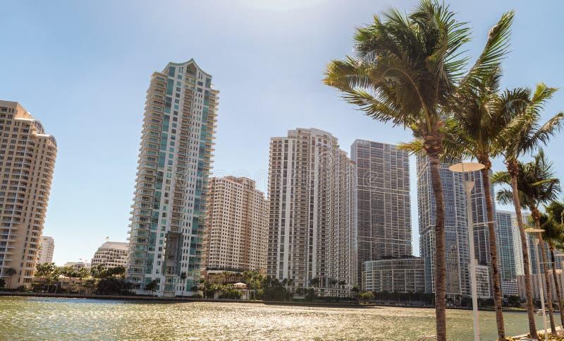 Brickell钥匙大厦,迈阿密- FL 免版税库存照片