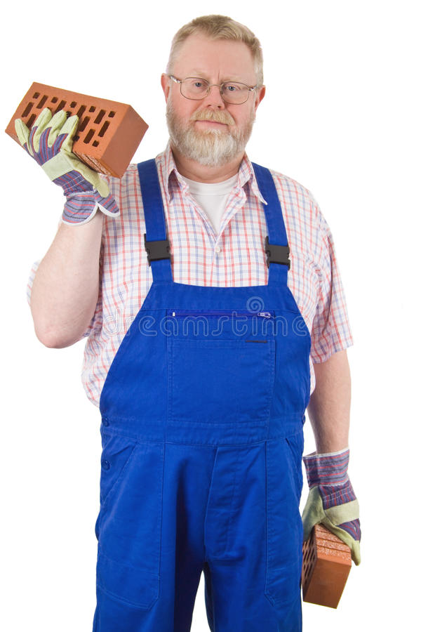 Download Bricklayer stock image. Image of white, occupation, working - 13604935