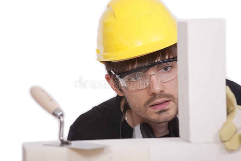 bricklayer стоковое фото rf