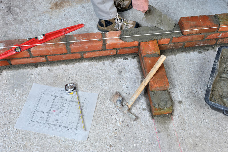 bricklayer 2 стоковые фотографии rf