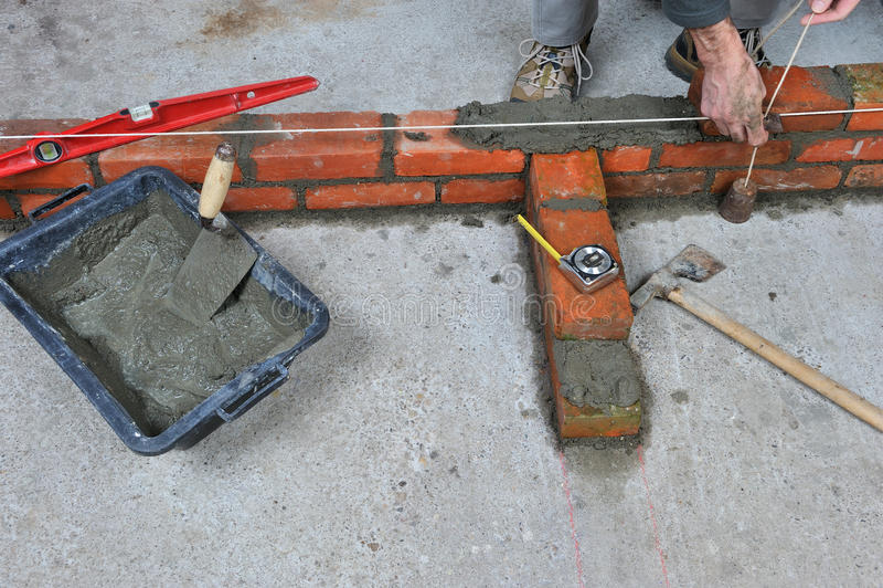 bricklayer стоковые фотографии rf